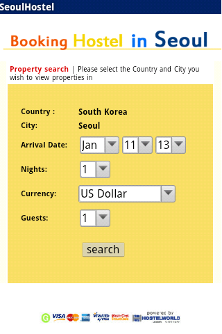 Seoul Korea hostel booking