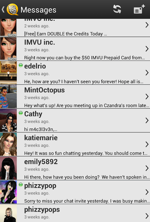 IMVU 2Go - screenshot