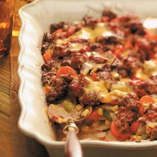 Layered Beef Casserole.