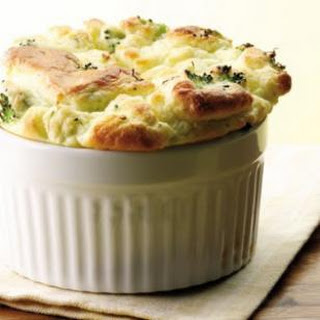 Broccoli & Goat Cheese Souffle