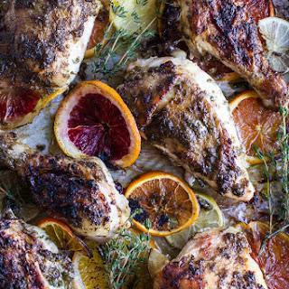 Jamaican Jerk and Citrus Pineapple Roasted Chicken..