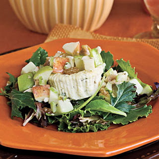 Savory Blue Cheesecakes With Waldorf Salad.