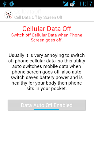 Cell Data Auto Off