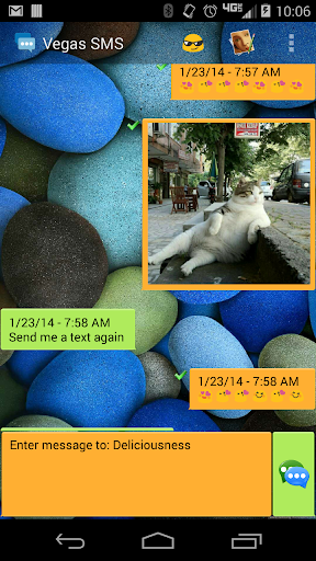 Vegas SMS Bubbles Theme