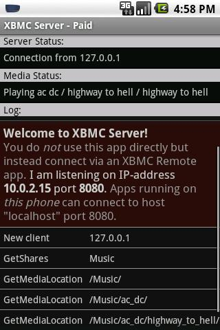 XBMC Server (host) - Paid - screenshot