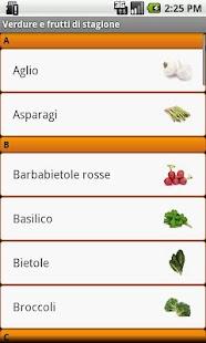 Verdure e frutta di Stagione- screenshot thumbnail