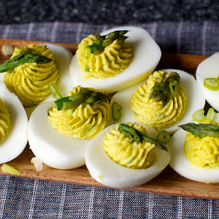 Asparagus-Stuffed Eggs