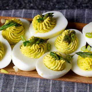 Asparagus-Stuffed Eggs.