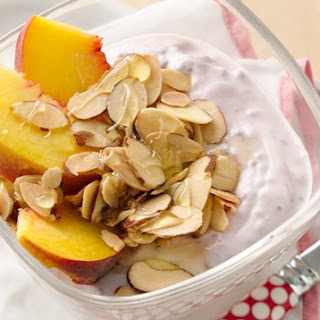 Raspberry-Peach Yogurt Cup