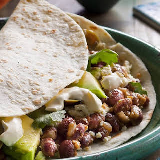 Baleadas With Red Beans And Feta.