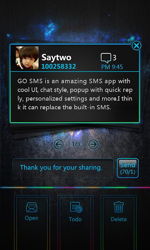 GO SMS Pro OpticalCard Pop Thx