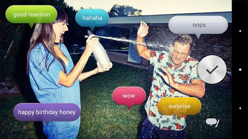 Voice balloon photo screenshot