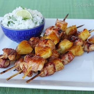 Bacon-Wrapped Teriyaki Chicken Skewers Recipe