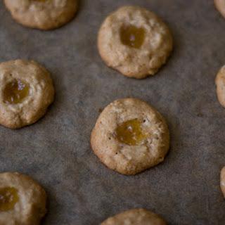 Honey-sweetened Thumbprint Cookies.