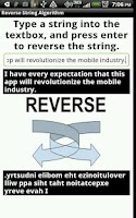 Screenshot of Reverse String Algorithm