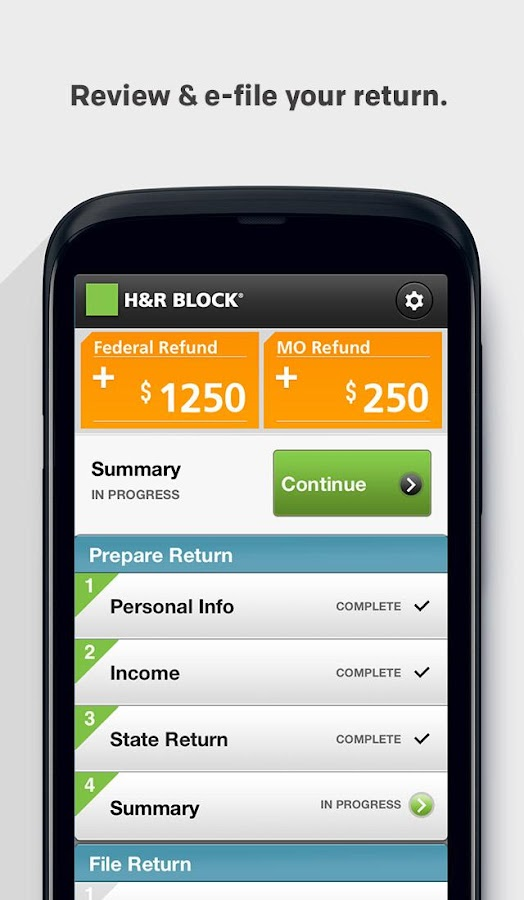 H&R Block 1040EZ - screenshot
