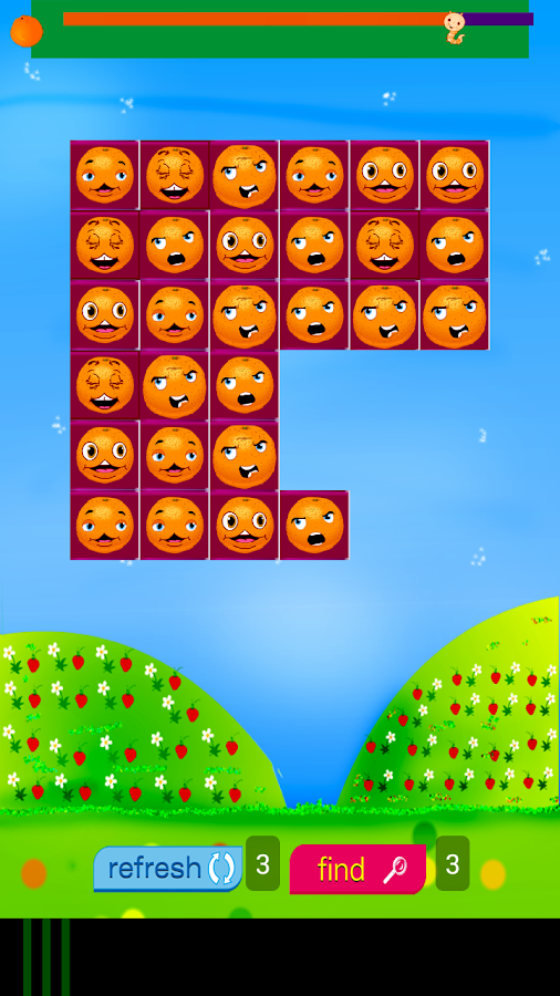 Fruit Match Orange - puzzle- screenshot