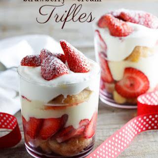 Strawberry & Cream Trifles