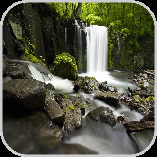 瀑布高清壁纸 個人化 App LOGO-硬是要APP