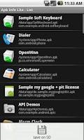 Screenshot of Apk Info Lite