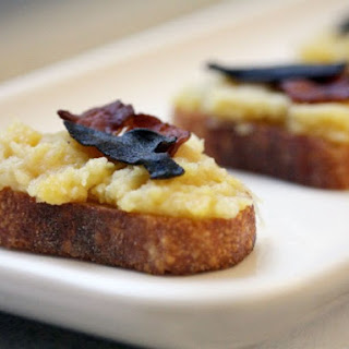 Acorn Squash Crostini with Crispy Bacon and Sage