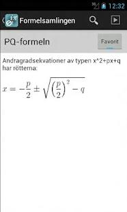 Formelsamlingen.se - screenshot thumbnail