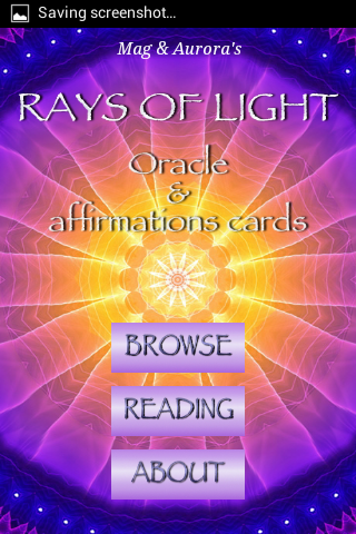 Rays of Light Oracle Cards