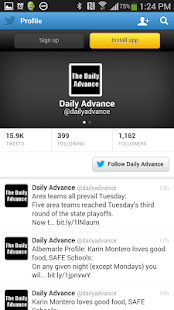 The Daily Advance - náhled