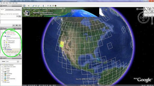 a selecting a topographic region in google earth