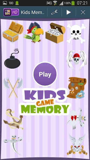 Pirates Memory Game For Kids