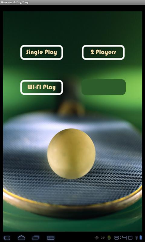 HoneyComb Ping Pong - screenshot