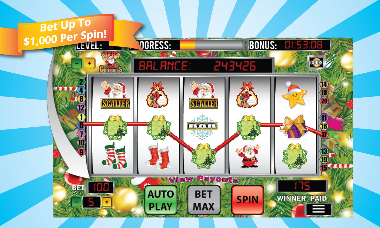 Mega Christmas Slot Machine - screenshot