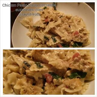 {Make Ahead Meals} Chicken Pesto Pasta Casserole