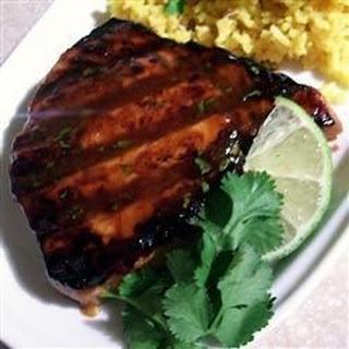Grilled Tropical Tuna Steaks.