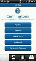 Screenshot of Cunningtons