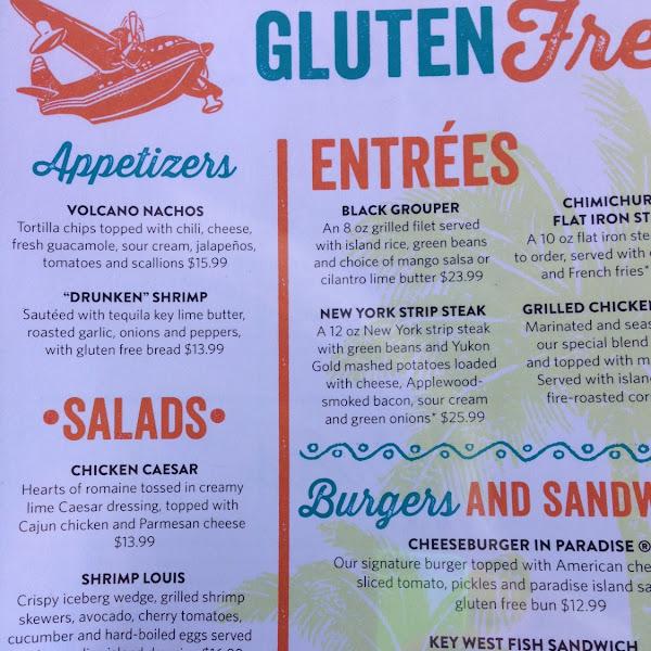 Nice GF menu