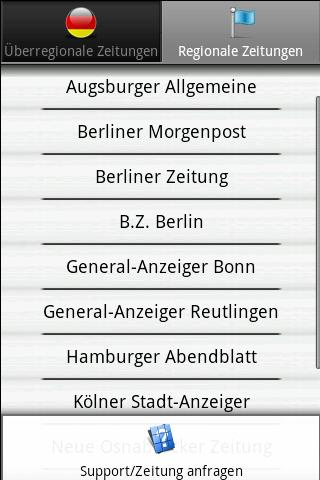 Zeitungen DE frei (Deutsch)- screenshot