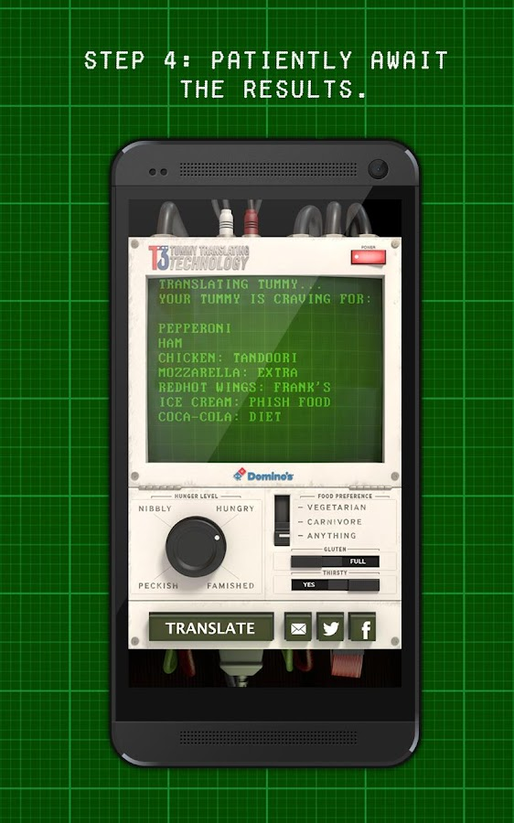 Domino's Tummy Translator- screenshot