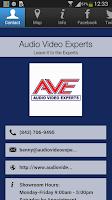 Screenshot of Audio Video Experts
