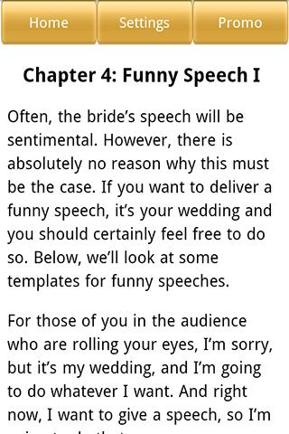 Wedding Speeches for the Bride - screenshot