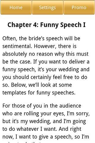 Wedding Speeches for the Bride - screenshot