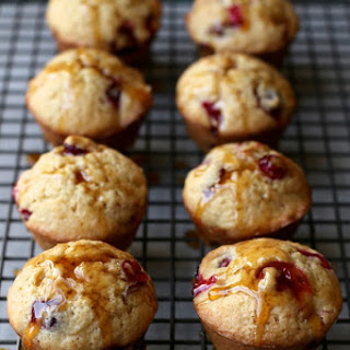 Brown Butter Cranberry Almond Pancake Muffins