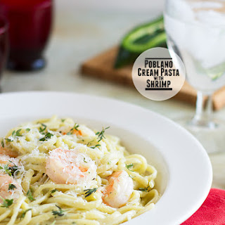 Poblano Cream Pasta with Shrimp Recipe