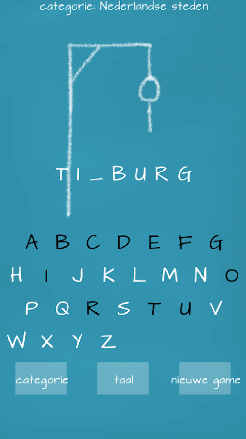 Hangman (Dutch)- screenshot