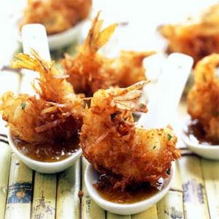 Coconut Shrimp with Maui Mustard Sauce.