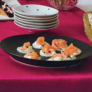 Salmon Canapés.