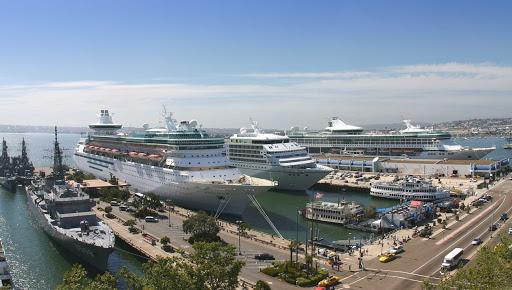 San-Diego-Cruise-Ship-Terminal - The San Diego Cruise Ship Terminal in downtown San Diego.