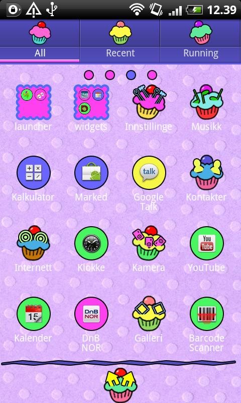 Cupcake GO Launcher EX Theme - screenshot