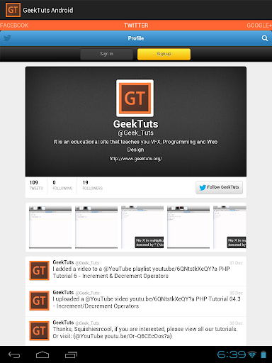 【免費教育App】GeekTuts Android-APP點子