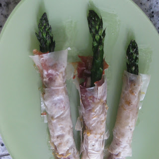 Asparagus Wrapped In Phyllo And Prosciutto.